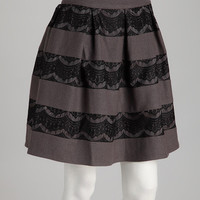 Charcoal Kristen Wool-Blend Skirt