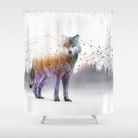 A Wilderness Within / Wolf Shower Curtain by Soaring Anchor Designs | Society6