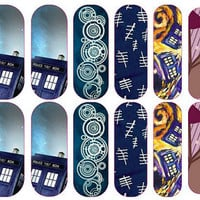Doctor Who Nail  Decal Wraps #1