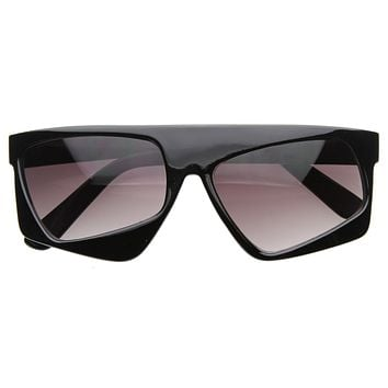 Retro Futuristic 80's Fashion Asymmetric Tilted Lens Sunglasses 8124
