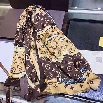 Louis Vuitton LV Woman Cashmere Scarf Shawl Silk Scarf