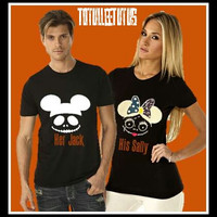 Supercute Disney Inspired Nightmare Before Christmas Mickey and MInne as Jack and Sally
