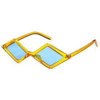Far Out Blue & Yellow Sunglasses