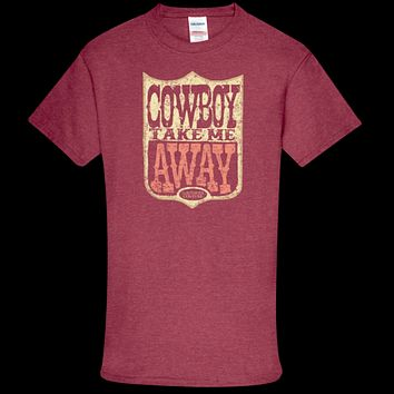 Southern Couture Soft Collection Cowboy Take Me Away front print T-Shirt