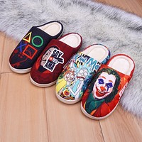 Slippers  special design cat Japanese anime cartoon funny winter Women's Shoes men's ladies' for kids