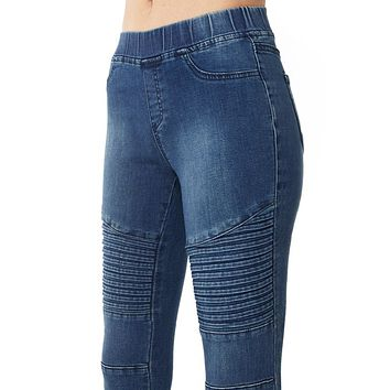 High Waisted Moto Jeggings