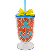 Anchor 18 oz. Double Wall Iced Tea Tumbler with Straw