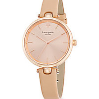 Kate Spade New York - Holland Rose Goldtone Stainless Steel & Leather Strap Watch - Saks Fifth Avenue Mobile