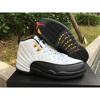 "Air Jordan 12 Retro ""Taxi"" Basketball Shoes 36-47"