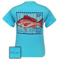 Southern Limits Red Snapper Authentic Pigment Blue Unisex Bright T-Shirt