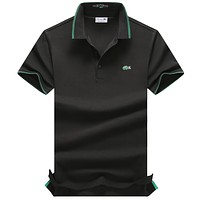 Trendsetter Lacoste Man Fashion Casual Lapel  Short Sleeve Shirt Top Tee