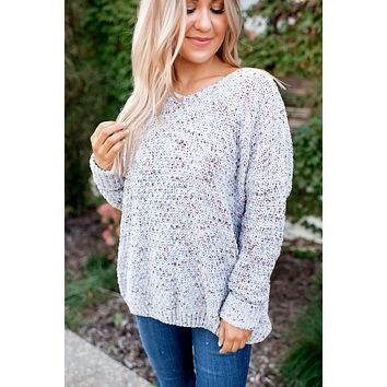 Candy Coated Knit Sweater (Grey)