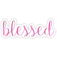 'Blessed' Sticker by Bethel Store