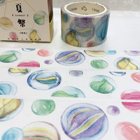 glass ball washi tape 7M x 3cm crystal ball ornaments colorful ball deco masking tape watercolor ball super wide tape sticker tape gift