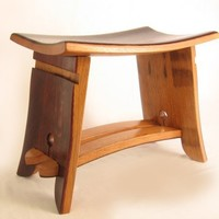 The Emperor Seat recycled oak wine barrel staves by StilNovoDesign