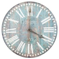 Antique Blue Round Wall Clock | Shop Hobby Lobby
