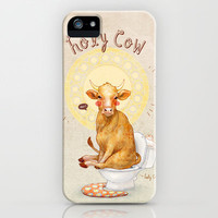 Holy Cow! iPhone & iPod Case by Julia Yellow