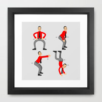 KRAF-TWERK Framed Art Print by chobopop