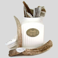 Antler Dog Chew  XLarge Whole Sized for Dogs 80 by AntlerPantry