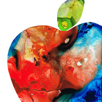 An Apple A Day - Colorful Fruit Art By Sharon Cummings