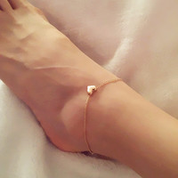 New Fashion Foot jewelry heart anklets Sweet!