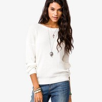 Textured Dolman Sweater