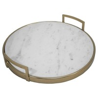 Gold and Marble Tray - Threshold™ : Target