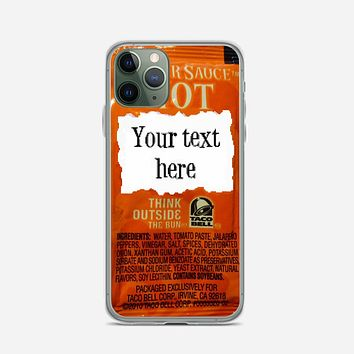 Taco Bell, Your Text Here iPhone 11 Pro Max Case