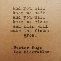 VICTOR HUGO Les MISERABLES Quote Hand Typed on Typewriter
