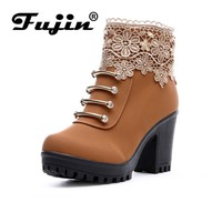 fall Fashion Women Leather Boots