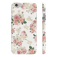 White Floral Phone Cases