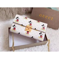 Gucci hot selling lady's casual shopping bag fashion animation print shoulder bag