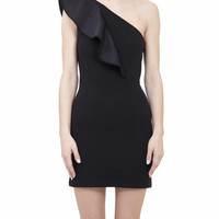 Items Edition One shoulder Dress with volant  | Lindelepalais.com 15389