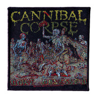 Cannibal Corpse Men's Gore Obsessed Woven Patch Black