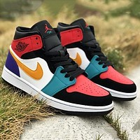 NIKE Air Jordan 1 Mid Jordan Generation Middle Cut Culture Basketball Shoes sneakers