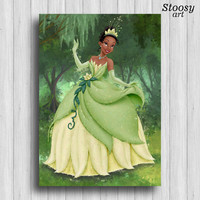 disney princess tiana print the princess and the frog decor