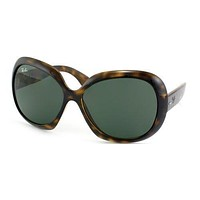 Authentic Ray Ban RB4098 Jackie OHH II 710/71 Tortoise Sunglasses Green Lens
