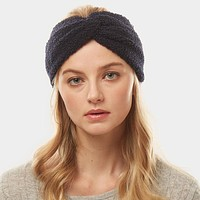 Navy Solid Sherpa Fleece Earmuff Headband