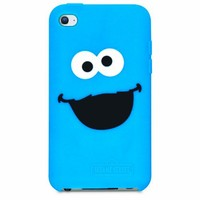 iSound DGIPOD-4662 Sesame Street Cookie Monster Silicone Case for iPod Touch 4 - Blue