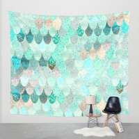 SUMMER MERMAID Wall Tapestry by Monika Strigel