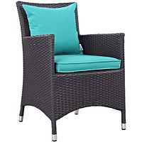 Turquoise Convene Dining Outdoor Patio Armchair