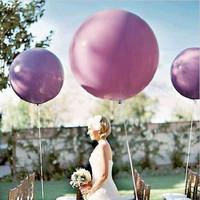 Colorful Blow up 36 Inches(91cm)Ball Balloon Helium Inflable Big Latex Balloons For Birthday Party Decoration 1 Pcs W624364
