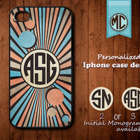 Personalized iPhone Case - Plastic or Silicone Rubber Monogram iPhone 4 4S Case Cover - K006