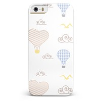 Micro Dot Hot Air Balloon Sketch  iPhone 5/5s or SE INK-Fuzed Case