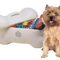 OurPets Big Bone Pet Toy Storage Bin