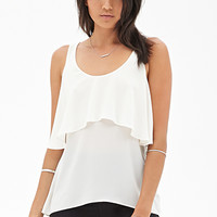 FOREVER 21 Flounce Open-Back Top