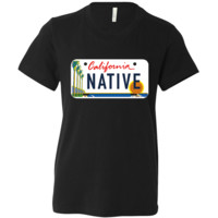 California Native License Plate Asst Colors Youth T-Shirt/tee