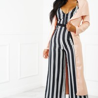 Baby Doll Duster Coat - Pink