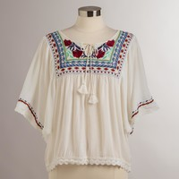 White Embroidered Lola Top - World Market
