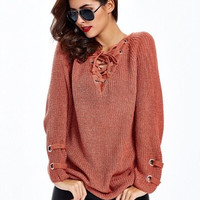 City Lights Sweater - Orange